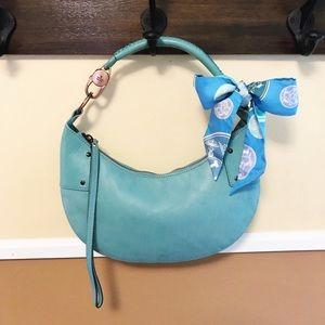 Auth. Gucci 90's Aqua Crescent / Hobo Bag